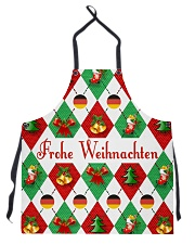 FROHE WEIHNACHTEN GERMAN CHRISTMAS Apron tile