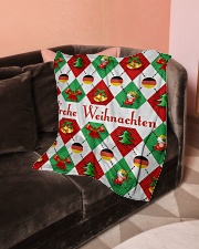 "FROHE WEIHNACHTEN GERMAN CHRISTMAS Small Fleece Blanket - 30"" x 40"" aos-coral-fleece-blanket-30x40-lifestyle-front-05"