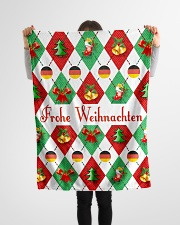 "FROHE WEIHNACHTEN GERMAN CHRISTMAS Small Fleece Blanket - 30"" x 40"" aos-coral-fleece-blanket-30x40-lifestyle-front-14"