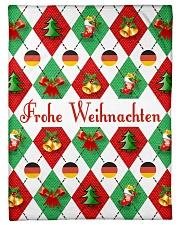 "FROHE WEIHNACHTEN GERMAN CHRISTMAS Small Fleece Blanket - 30"" x 40"" front"