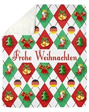"FROHE WEIHNACHTEN GERMAN CHRISTMAS Sherpa Fleece Blanket - 50"" x 60"" thumbnail"
