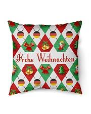 "FROHE WEIHNACHTEN GERMAN CHRISTMAS Indoor Pillow - 16"" x 16"" thumbnail"