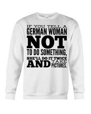 GERMAN WOMAN FUNNY Crewneck Sweatshirt thumbnail