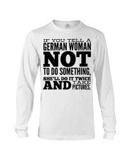 GERMAN WOMAN FUNNY Long Sleeve Tee thumbnail