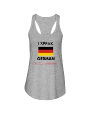 I SPEAK GERMAN Ladies Flowy Tank front