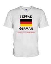 I SPEAK GERMAN V-Neck T-Shirt thumbnail