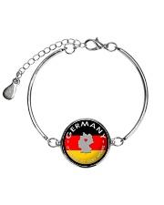 GERMANY STORY Metallic Circle Bracelet front