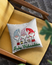 GERMAN MERRY CHRISTMAS Square Pillowcase aos-pillow-square-front-lifestyle-07