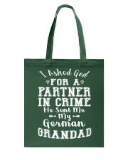 GERMAN GRANDAD FUNNY PARTNER IN CRIME Tote Bag thumbnail