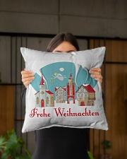 "GERMAN MERRY CHRISTMAS Indoor Pillow - 16"" x 16"" aos-decorative-pillow-lifestyle-front-03"