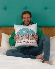 "GERMAN MERRY CHRISTMAS Indoor Pillow - 16"" x 16"" aos-decorative-pillow-lifestyle-front-09"