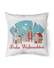 """GERMAN MERRY CHRISTMAS Indoor Pillow - 16"""" x 16"""" back"""