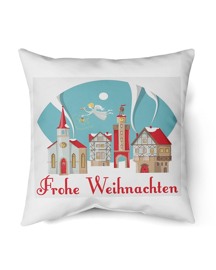 """GERMAN MERRY CHRISTMAS Indoor Pillow - 16"""" x 16"""""""