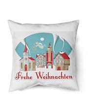 """GERMAN MERRY CHRISTMAS Indoor Pillow - 16"""" x 16"""" front"""