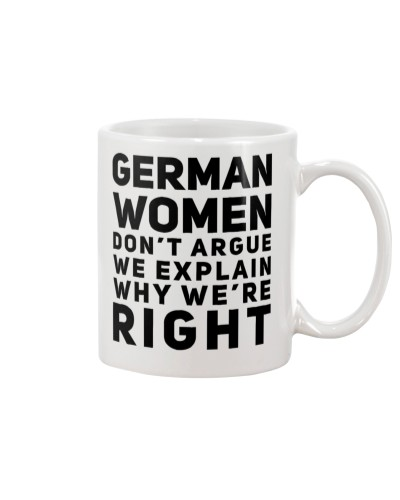 GERMAN WOMEN DON'T ARGUE