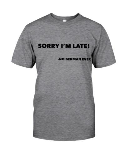 SORRY I'M LATE - NO GERMAN EVER
