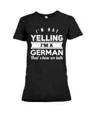 GERMAN YELLING FUNNY Premium Fit Ladies Tee thumbnail