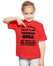 MY GERMAN OMA Youth T-Shirt lifestyle-youth-tshirt-front-2