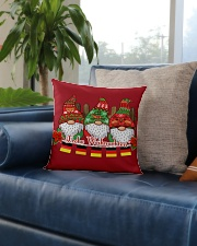 GERMAN CHRISTMAS  ELFS Square Pillowcase aos-pillow-square-front-lifestyle-02