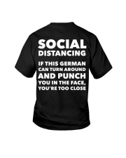 SOCIAL DISTANCING IF THIS GERMAN CAN TURN AROUND Youth T-Shirt thumbnail