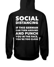 SOCIAL DISTANCING IF THIS GERMAN CAN TURN AROUND Hooded Sweatshirt thumbnail