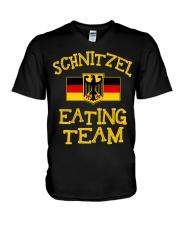 SCHNITZEL EATING TEAM V-Neck T-Shirt thumbnail
