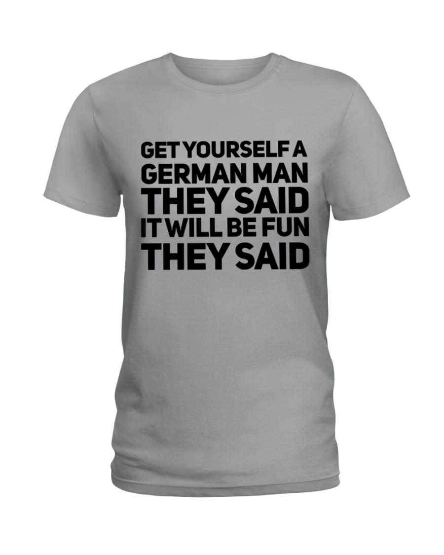 GET YOURSELF GERMAN MAN FUNNY Ladies T-Shirt