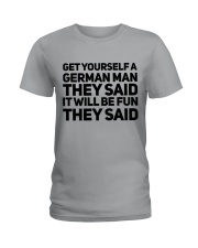 GET YOURSELF GERMAN MAN FUNNY Ladies T-Shirt front
