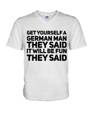 GET YOURSELF GERMAN MAN FUNNY V-Neck T-Shirt thumbnail