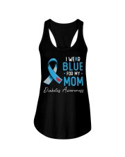 I wear blue for my mom Ladies Flowy Tank thumbnail