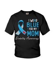 I wear blue for my mom Youth T-Shirt thumbnail