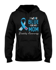 I wear blue for my mom Hooded Sweatshirt thumbnail