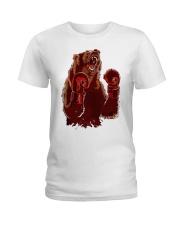bear boxing Ladies T-Shirt front