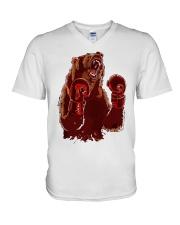 bear boxing V-Neck T-Shirt thumbnail