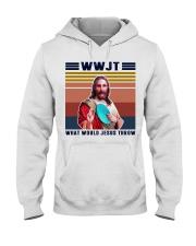 What would Jesus throw Hooded Sweatshirt thumbnail