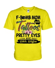 F bomb mom V-Neck T-Shirt thumbnail
