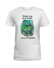 Behind woman Ladies T-Shirt front