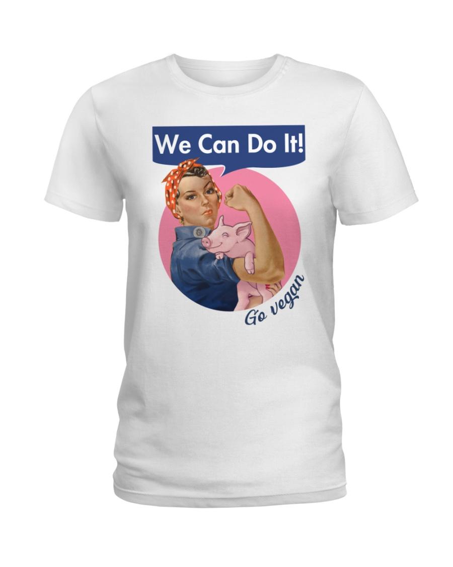 Go vegan Ladies T-Shirt