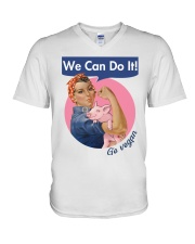 Go vegan V-Neck T-Shirt thumbnail