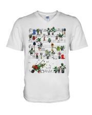 Garden music V-Neck T-Shirt thumbnail