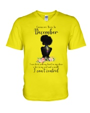 Queen are born in December V-Neck T-Shirt thumbnail