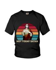 Not today satan Youth T-Shirt thumbnail