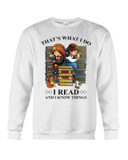I read and i know things Crewneck Sweatshirt thumbnail