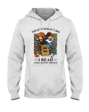 I read and i know things Hooded Sweatshirt thumbnail