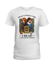 I read and i know things Ladies T-Shirt front