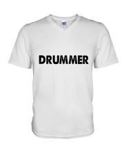 Drummer Ao Trang V-Neck T-Shirt thumbnail