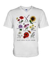 Bloom where you are planted V-Neck T-Shirt thumbnail