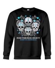 Diabetes skull Crewneck Sweatshirt thumbnail