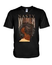 Nasty women V-Neck T-Shirt thumbnail