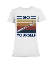 Go fork yourself Premium Fit Ladies Tee thumbnail